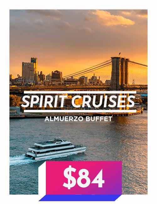 Spirit Cruises almuerzo buffet