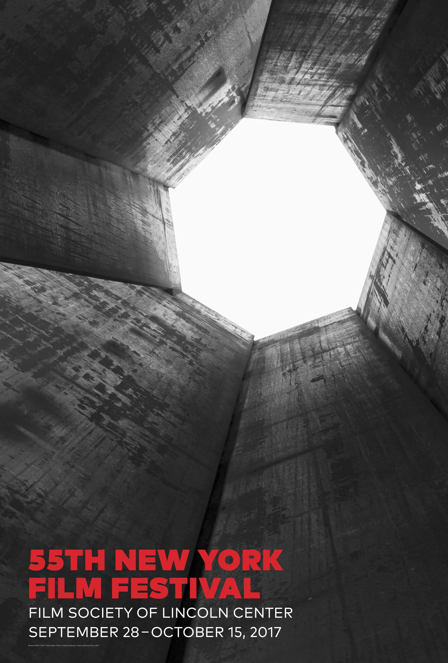 NYFF55 Poster by Richard Serra