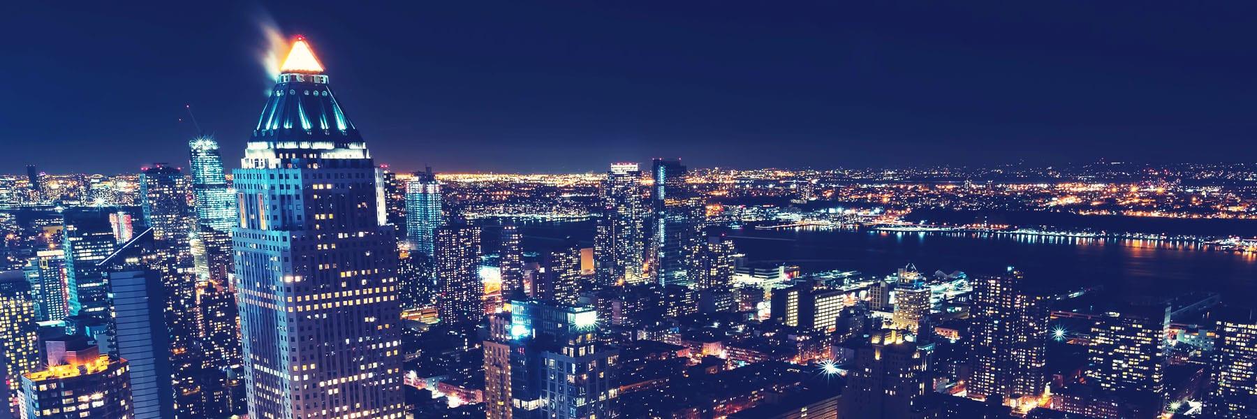 Panoramica Nocturna nueva york
