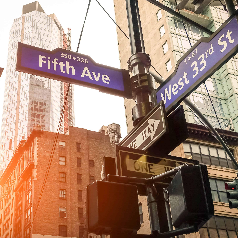 Señales de las calles de Nueva York