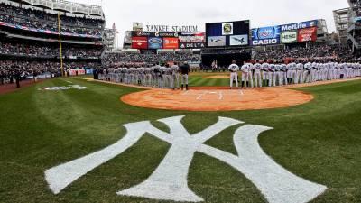Partido de béisbol en Nueva York
