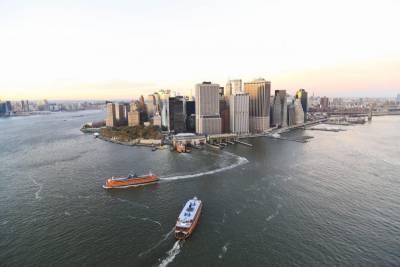 Staten Island Ferry in Lower Manhattan
