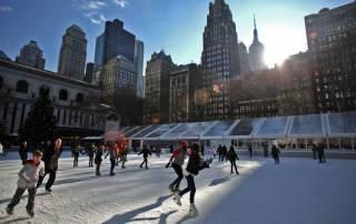 Pistas de hielo en Nueva York
