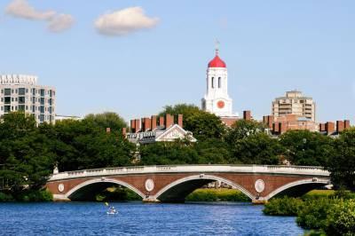 Harvard puente peatonal en Boston