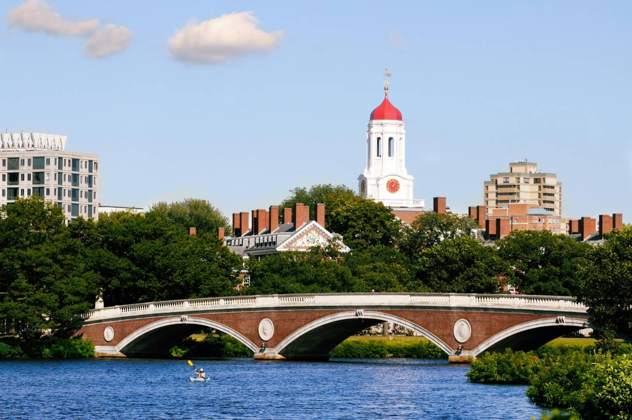 Harvard puente peatonal en Boston
