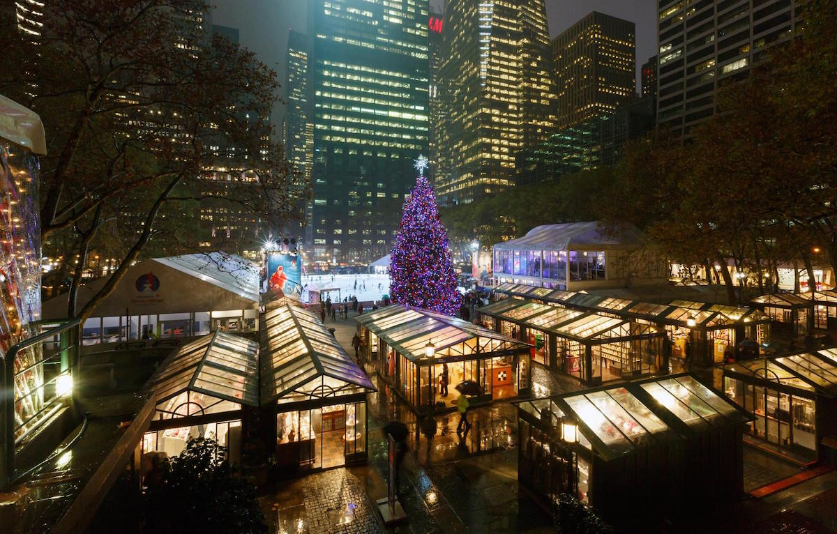 Winter Village en Bryant Park